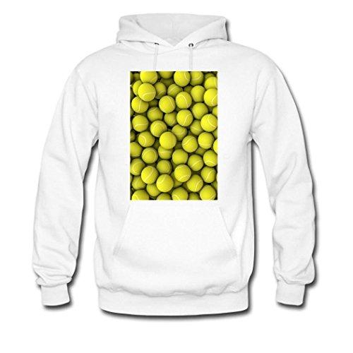 HKdiy Tennis Custom Classic Men Hoodie White-1