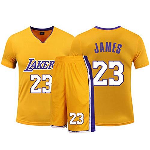 SUXT Lebron James 23 Los Angeles Lakers Basketballtrikot, 3 NBA-Meisterschaften (2012, 2013, 2016) Das Material des Trikots selbst ist von sehr hoher Qualität. XS-XXXL-Yellow-S -