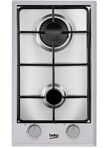 Beko HDCG 32220 FX Integrado Encimera de gas Acero inoxidable hobs   Placa (Integrado, Encimera de gas, Acero inoxidable, Acero inoxidable, 1000 W, 2900 W)