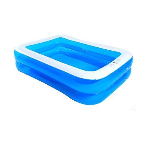 l Gonflable Piscine Épaississement Augmenter Adulte Piscine Carré Piscine Piscine Paddle pour Enfants Marine (200/260cm) (Couleur : Transparent blue-200X145X50cm)