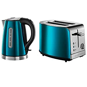 neuf russell hobbs lectrique bleu saphir bijoux verseuse bouilloire grille pain 2 tranches. Black Bedroom Furniture Sets. Home Design Ideas