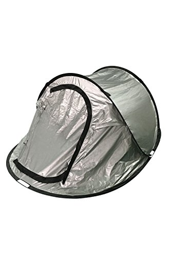 Mountain ...  sc 1 st  UK Sports Outdoors C&ing Hiking Jogging Gym fitness wear Yoga & Mountain Warehouse Black Out Pop-Up Double Skin 3 Man Tent Silver ...