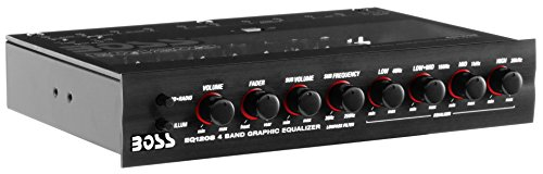 BOSS EQ1208 4 Band Pre-Amp Equalizer with Subwoofer Output, Master Sound Control (EQ1208)