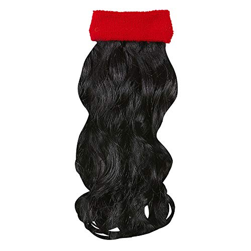Widmann 05836 Stirnband lockigen Haar, schwarz/rot