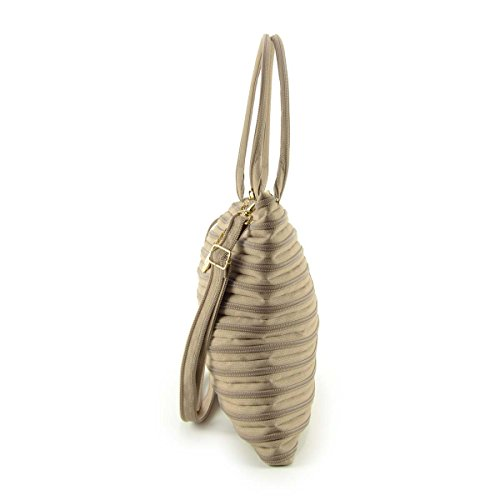 GHOSTZIP® Made in Italy, Borsa a tracolla donna Beige