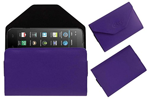 Acm Premium Pouch Case For Micromax Canvas Power A96 Flip Flap Cover Holder Purple  available at amazon for Rs.179