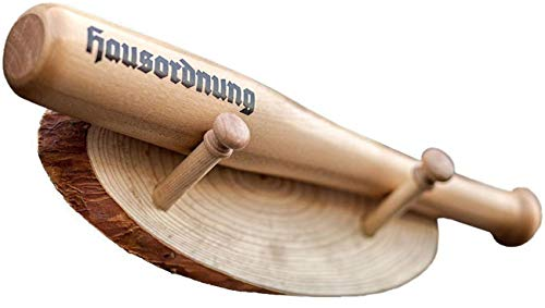 Schwerer Deko Baseballschläger 40 cm mit Wandhalterung