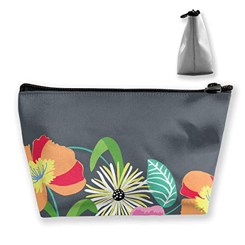 Flower Essential Tote Bag (Beautiful Flowers Painting Graphic Large Trapezoidal Storage Pouch Travel Accessories Cosmetic Tote Bag Carry Case)