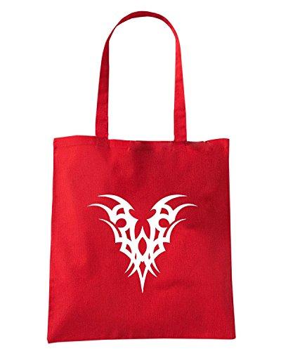 T-Shirtshock - Borsa Shopping FUN0461 2290 tribal sticker design 22 59168 Rosso