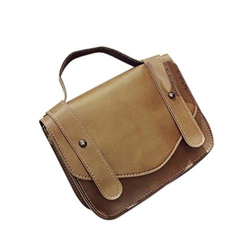 BZLine® Frauen Retro-einzelne Schulter Hand Tasche Schultertasche Handtaschen , 20cm *16cm *6cm Braun