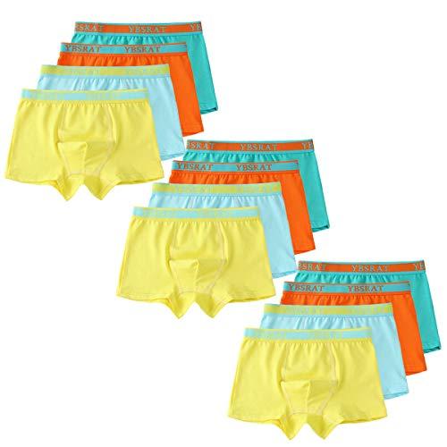 Usex Sense 12er Pack Kinder Jungen Boxershorts Baumwolle Unterhosen Slips Jungs Boxers Unterwäsche (M(4-6 Jahre), Mixed 1710)