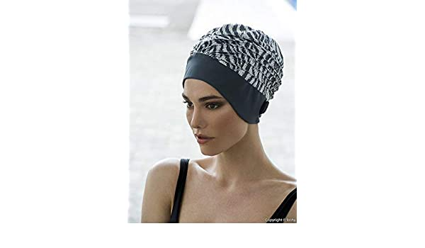962ea20ed0 Fashy Ladies Swim Turban Swimming Hat Grey Silver Sequins Sequinned   Amazon.co.uk  Sports   Outdoors