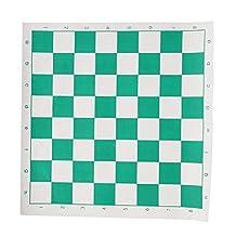 Qiilu 42 x 42cm PVC PU lederen schaakbord Educatief speelgoed Dambord voor kinderen of volwassenen(42 * 42 cm)