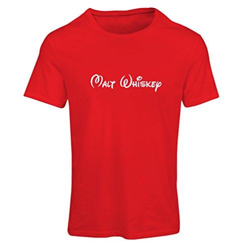 Maglietta Donna Whisky di malto - citazioni di bere divertenti, parole di alcolici freddi Rosso Bianco
