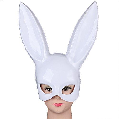 Yxsd Kaninchen Maske Halloween Maske Kaninchen Nuwa Maske Prom Bar Party Hase Ohr Requisiten Supplies (Farbe : A) (Halloween Hase Schminken)