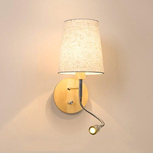 Wandleuchte-E14 LED Schlafzimmer Nachttischleuchte Matte Light Lesen Warmes Licht Leinen Stoff Wandleuchte ( Farbe : B )
