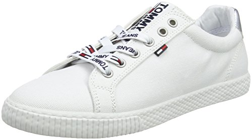 medvetet biografi Populär  Tommy Jeans Hilfiger Denim Women's Casual Low-Top Sneakers, White ...