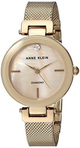 Anne Klein para Mujer AK/2472tmgb Diamond-Accented de Malla de Color Dorado Reloj De Pulsera