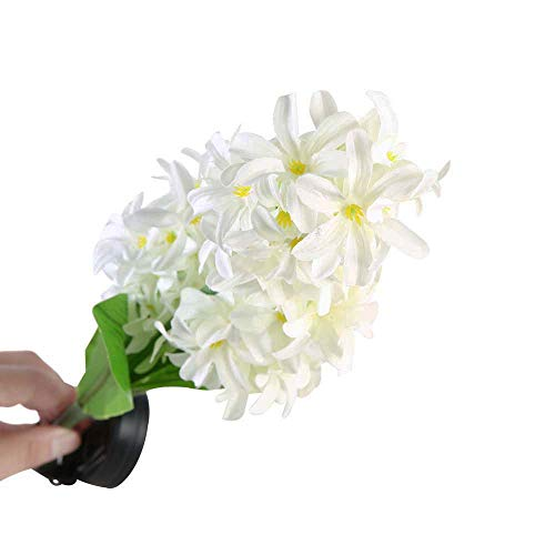 Artistic9 Solar Flower Lights Outdoor wasserdichte Hyazinthe Led Garten Weg Licht langlebig weiße Fee Lampe Landschaft Beleuchtung Licht für Patio Yard Rasen -
