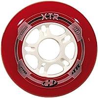 HyperWheels Urban Xtr - Ruedas Patines, Unisex Adulto, color rojo blanco, (8 ruedas/paquete)