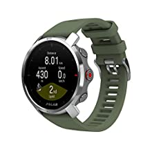 Polar Unisex's Grit X - Rugged Outdoor Watch with GPS, Compass, Altimeter and Military-Level Durability, Green, Medium/Large