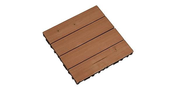 Mattonella da pavimento effetto legno 30x30 modulare giardino