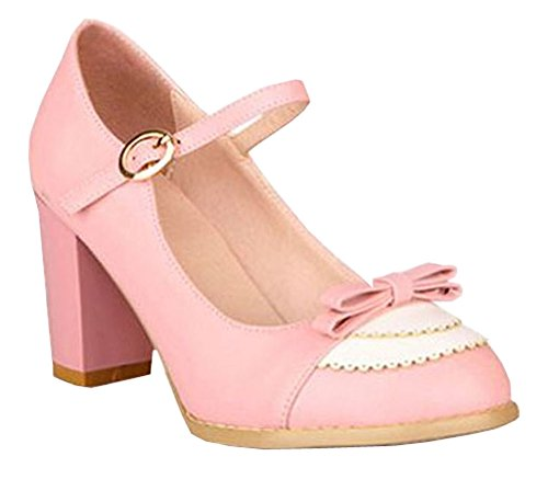Shoes Women's Wedding Women Heel Sexy High Fashion 43 34 2015 Rosa Size Dress Pumps gw6SqfB