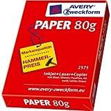 AVERY Zweckform 300 x Kopierpapier A4 80 g/qm 500 Blatt weiß