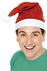 Idea Regalo - SMIFFYS- Cappello di Babbo Natale, Rosso Adulti, Rosa, Taglia unica, 21440