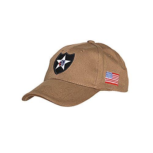 Cappello da Baseball militare 2nd Infantry Division Esercito Fanteria (Coyote Tan)