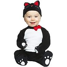 My Other Me - Disfraz de gatito, color negro, 1-2 años (Viving Costumes 204962)
