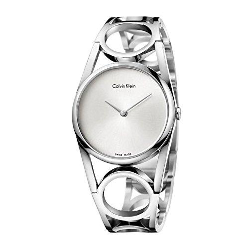 Calvin Klein Orologio Analogico Quarzo da Donna con Cinturino in Acciaio Inox K5U2S146