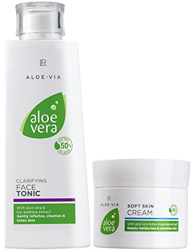 LR ALOE VIA Aloe Vera Gesichtspflege-Set (200 ml Gesichtswasser & 100 ml Hautcreme)