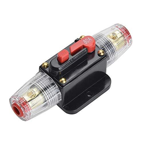 Qiorange 80A 80AMP Automatiksicherungshalter Sicherungshalter Halterung Automat 12V-24V DC (Fuse Holder 80A Type A)