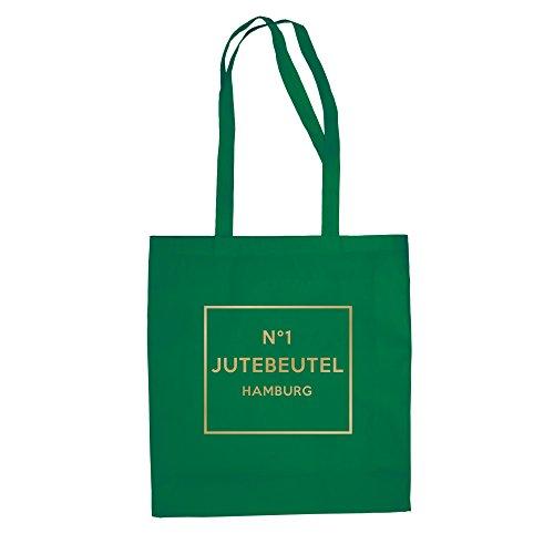 No1 - Jutebeutel - Hamburg - von SHIRT DEPARTMENT kellygrün-gold