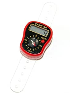 Tally compteur LCD Digital Ring Finger Red Tally Counter Clicker With Compass