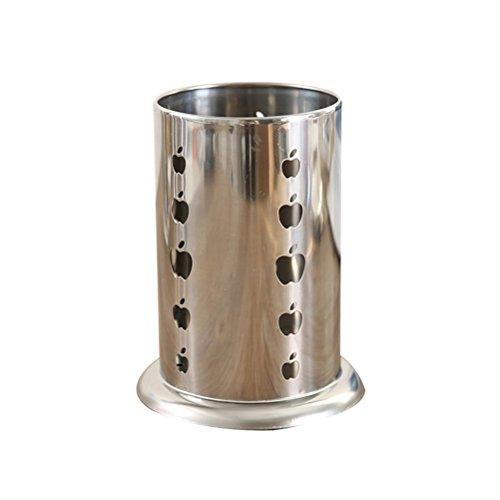 BESTOMZ Porta Utensilios de Cocina de Acero Inoxible Colgante Multifuncional para Cuchara Tenedor