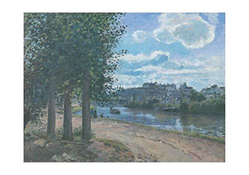 Spiffing Prints Camille Pissarro - Road by River - Large - Matte - Framed River Road Matte