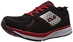 Columbus Mens White, Black and Red Mesh Running Shoes - 7 UK (ROME)