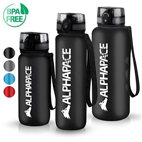 ALPHAPACE Trinkflasche 1L Sport Bpa Frei Sportflaschen