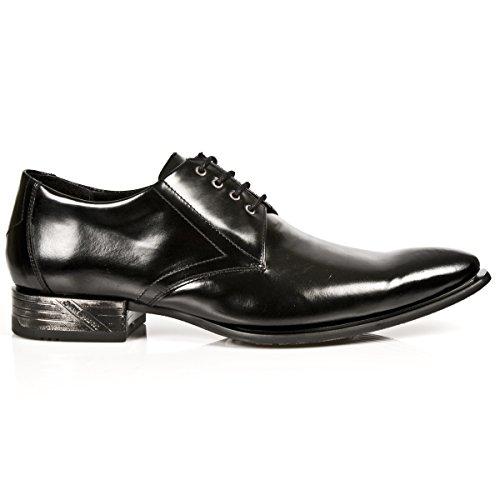 Newrock New Rock Classic 2243-S1 Black Brevet Chaussures en Cuir West Lace