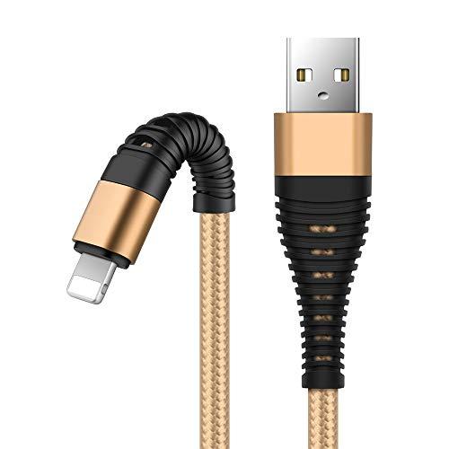 Ugi® USB-Ladekabel für IOS Lightning Data Sync Schnellladekabel aus geflochtenem Nylon (3,3 Fuß/6,6 Fuß/10 Fuß) Kompatibel mit iPhone XS Max, Xr, X,8 Plus,7 Plus,6 Plus und iPad Weitere IOS-Geräte (6ft Usb Geflochten)