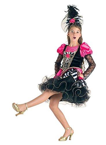 Mädchen Kostüm Tänzerin, Faschingskostüm Revue Girl, Größe:140