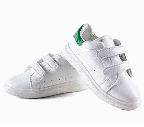 Lässige Modische Bunte Ferse Atmungsaktive Hohl Klettband Slip On Bequeme Unisex Kinder Sneakers Grün