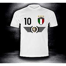 Italien Italia Kinder BABY BODY Größe EM T-Shirt Trikot NR weiß Druck NAME