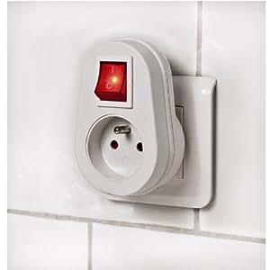 Prise de protection avec interrupteur