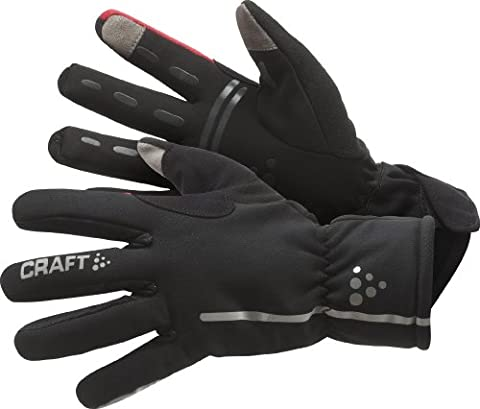 Craft Radhandschuh Lang Siberian Gloves, Schwarz/Rot, 9/Medium,