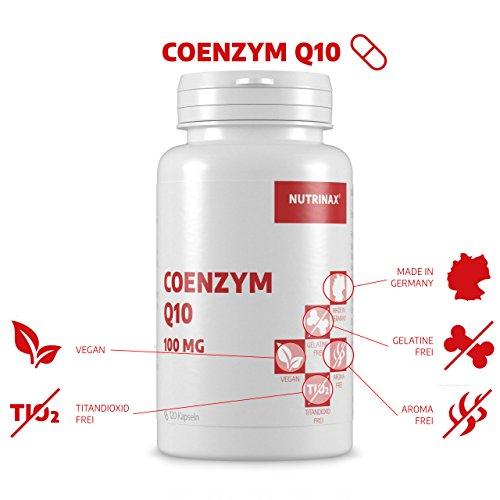 Coenzym Q10 100mg – 120 Kapseln hochdosiert 100mg für 4 Monate – Made in Germany – vegan – ohne Magnesiumstearat - 2