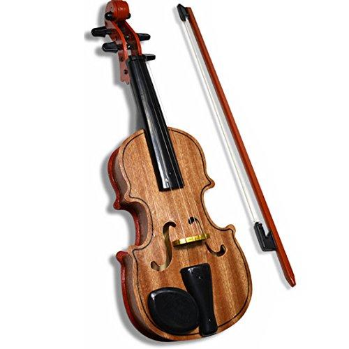 Foxom Geige Kinder, Kinder Holz Geige Violine Spielzeug Musikinstrument Geschenk für Kinder Junge Mädchen ab 3 Jahre
