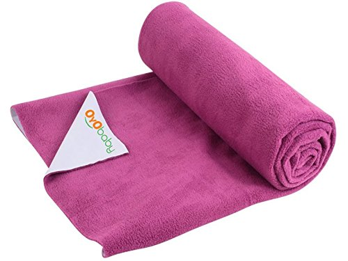 OYO BABY - Quickly Dry Super Soft, Waterproof, Reusable Mat / Underpad / Absorbent Sheets / Mattress Protector (Size: 70cm X 50cm) / (28 inch X 19 inch ) Rani Pink,S  available at amazon for Rs.153